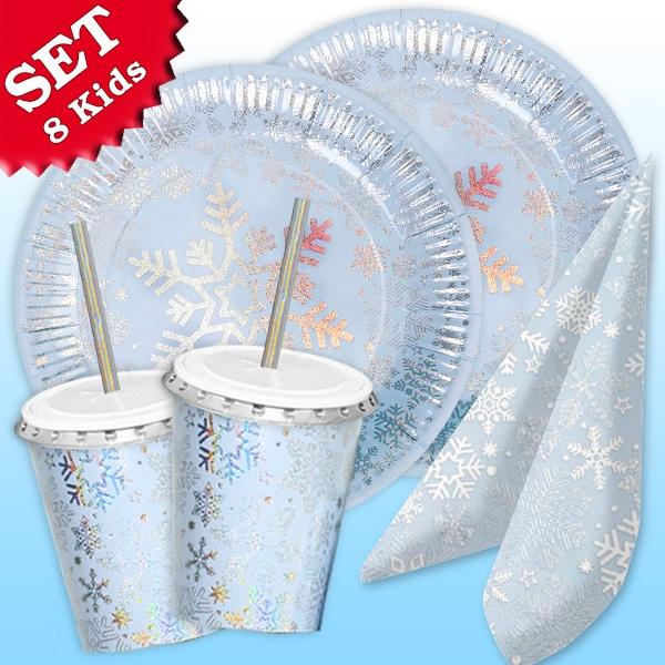 """Basic Set """"Eiskristall"""", für 8 Gäste, 50-tlg"""