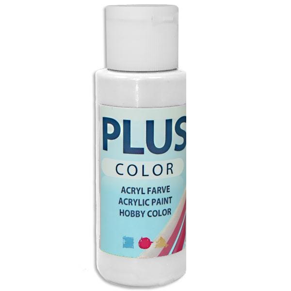 Bastelfarbe Plus Color WEIß, 60 ml, äußerst gute Deckkraft