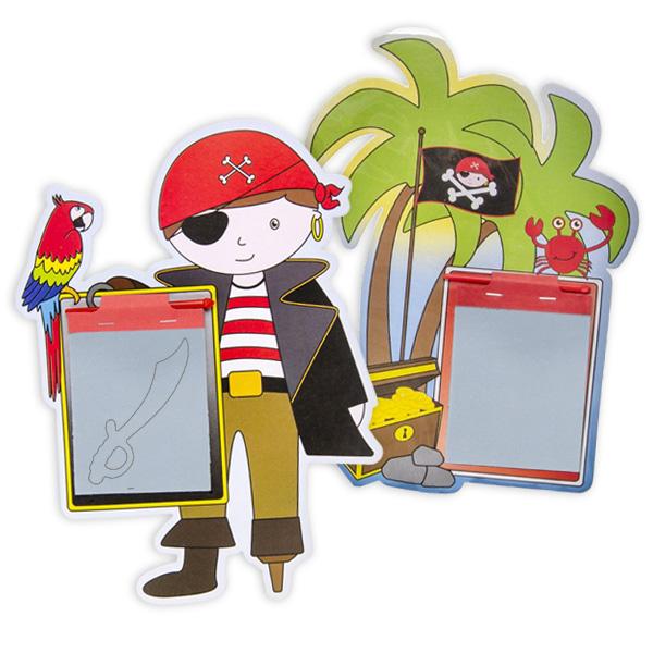 "Zauber-Maltafel ""Pirat"" mit Stift, 1 Stück"