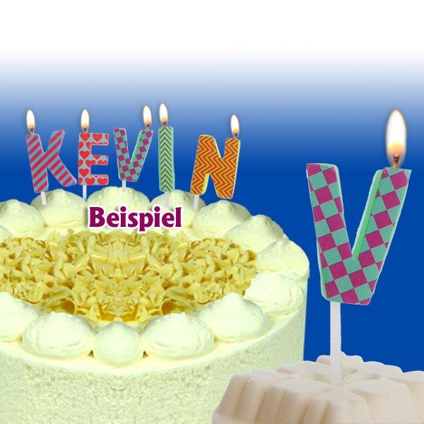 Mini Kerze Buchstabe V, 2,5 cm, für personalisierte Geburtstagstorte