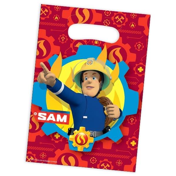 Feuerwehrmann Sam Tütchen für Kinder, 8 Geschenktütchen im Set