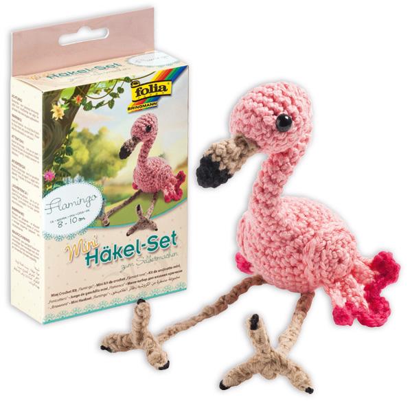 Häkelset Mini - Flamingo