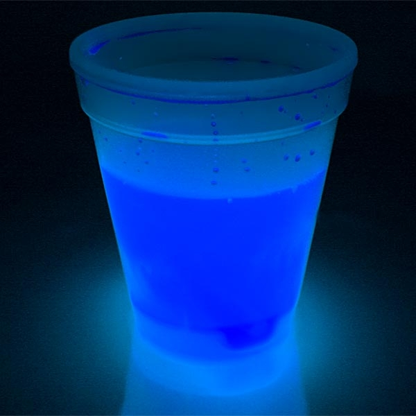 Kinderbecher mit Knicklicht, blau, Knicklichtbecher für KLichterpartys, 250ml