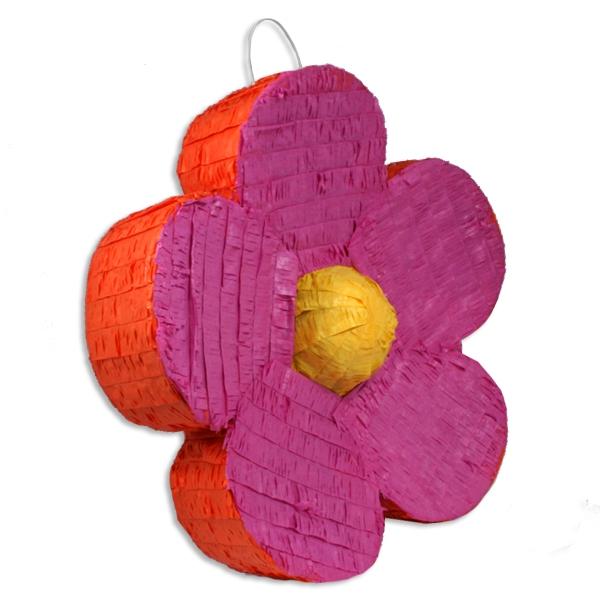 Geburtstagsspiele Zubehör: Pinata als Blume/Blüte zum Schlagen für Kinder, 45 cm