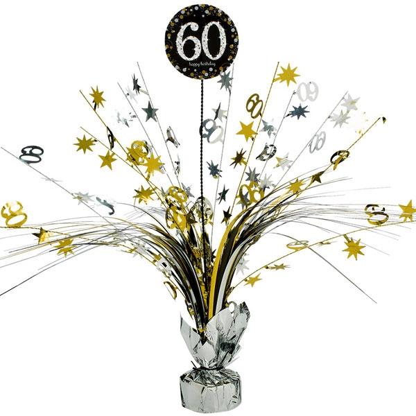 Sparkling Celebr. Tischkaskade 60. Geburtstag, golden, 46cm