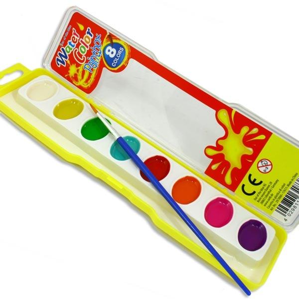 Wasserfarb-Kasten für Kinder, mit Pinsel, Geschenkidee für Kids