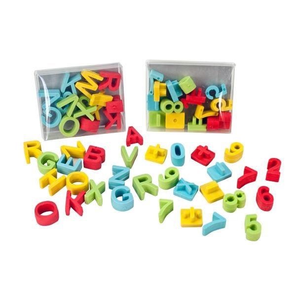 Lernspaß Radierer Set, Zahlen oder Buchstaben, 16 Einzelradierer