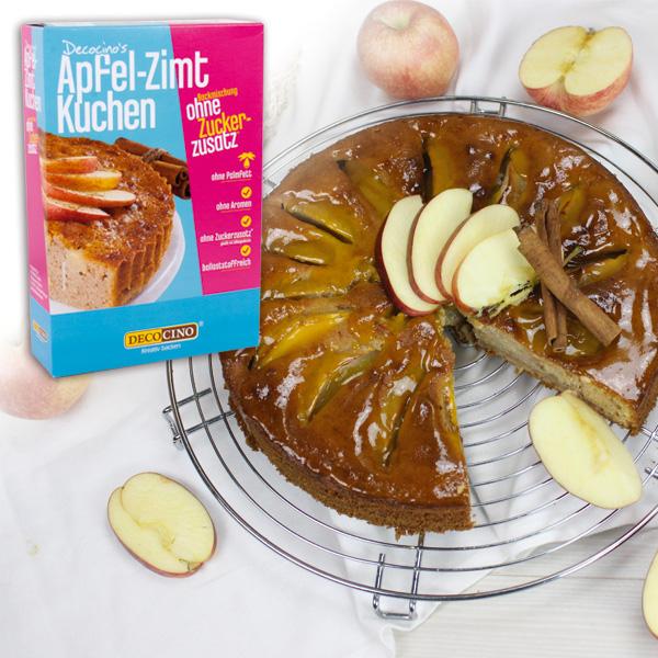 Apfel-Zimt-Kuchen Backmischung, ohne Zuckerzusatz