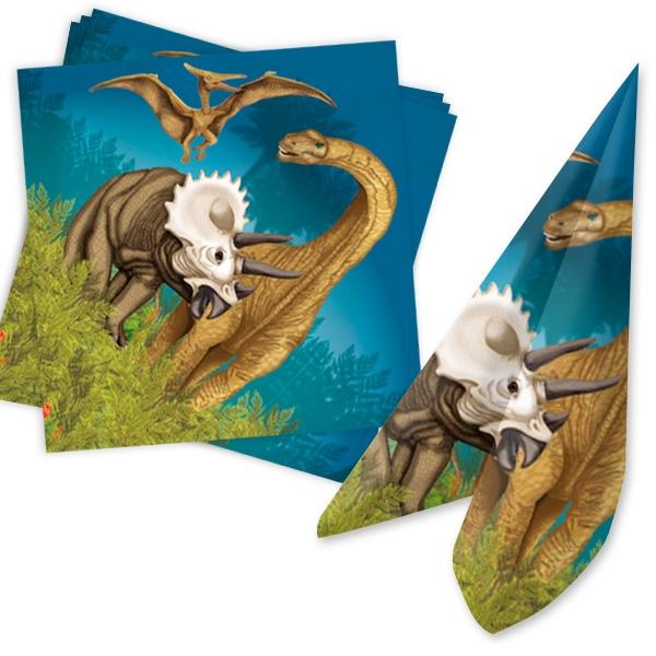 Dinosaurier Servietten, 20 Stück, Papier