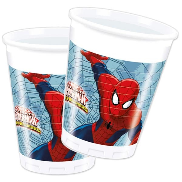 Spiderman Plastikbecher 8 Stk., 200 ml