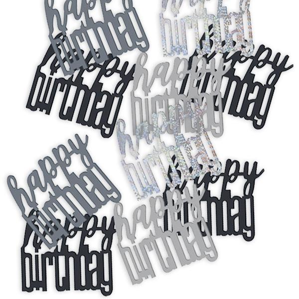 Konfetti mit Happy Birthday-Gruß, Streudeko für Geburtstagstafel 14g