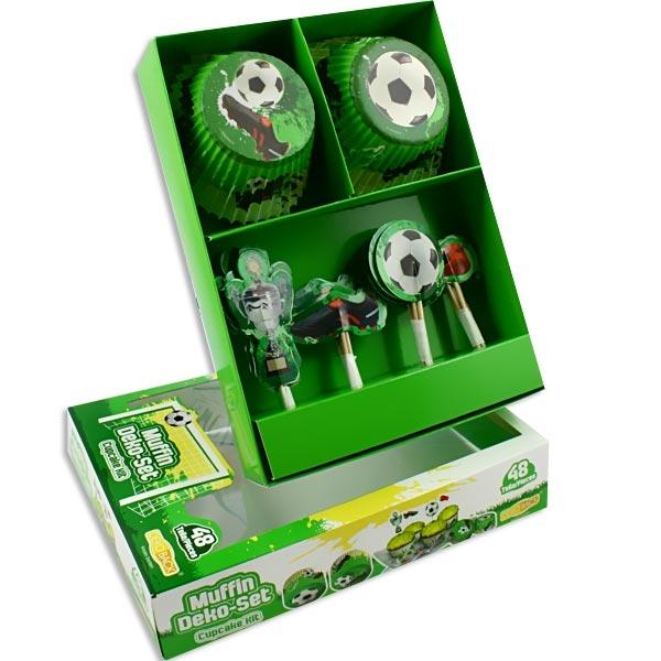 Fußball-Muffinsdeko-Set 48-teilig