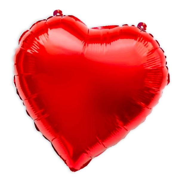 Herz Folienballon rot 41cm, Mini Herzballon für Verliebte, 1 Stk