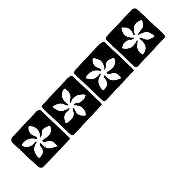 Blumi-Tattooschablonen 4er Set, für Glittertattoos, airbrush-geeignet