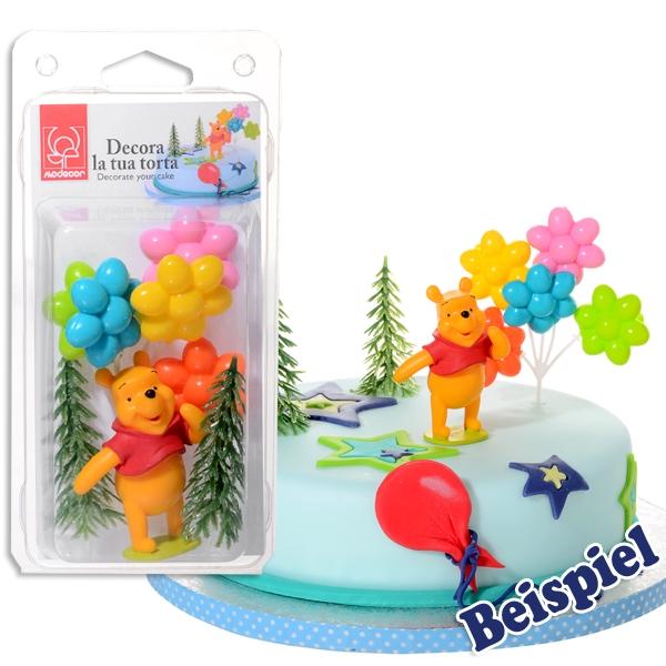 Winnie Pooh Tortenfiguren Set, Tortendekoration Kindergeburtstag