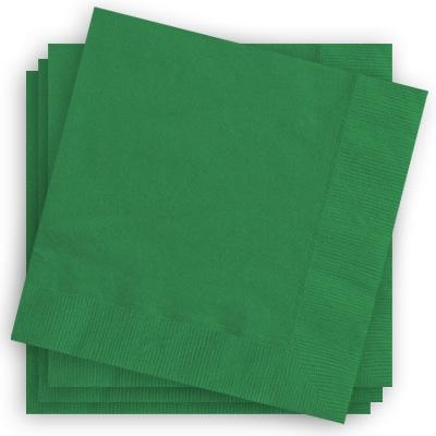 Papierservietten in Grün, 33x33cm, 2-lagige Servietten, einfarbig, 20 Stück