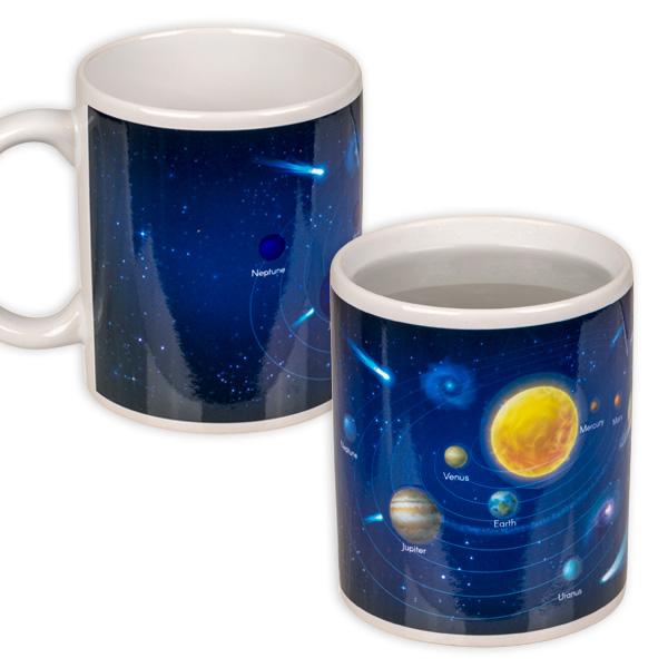 Sonnensystem Tasse, reagiert auf Wärme