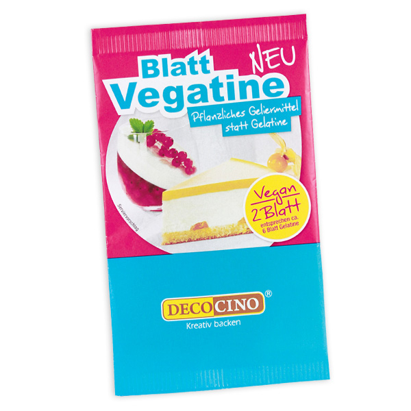 2 Blatt Vegatine, veganes Geliermittel