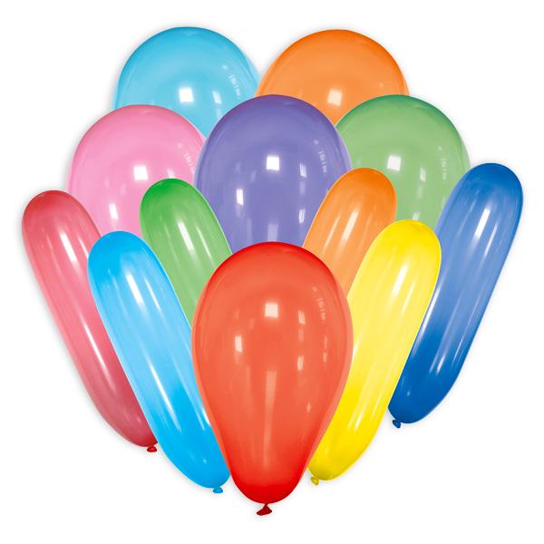 30 bunte Form-Ballons