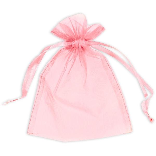 Geschenktaschen in Babyrosa aus hochwertigem Organza, 10 Stück