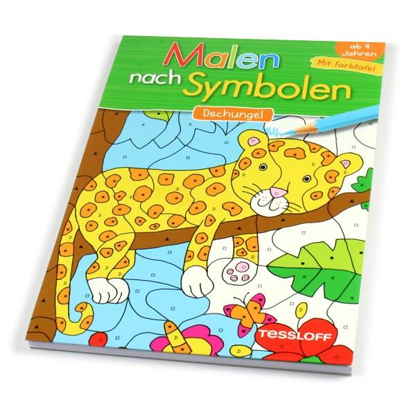 """Malen nach Symbolen """"Dschungel"""", 1 Ausmalblock"""