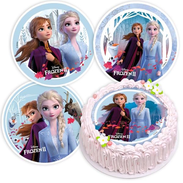 """Tortenauflage zu """"Frozen 2"""", 1 Stk, 20,5cm, Oblate"""