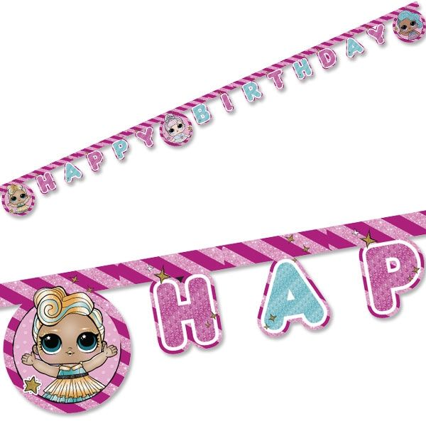 LOL Surprise Happy Birthday Buchstabenkette, 1 Stk, 2m