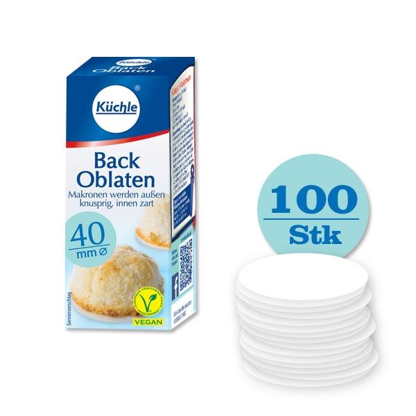 Backoblaten 100er Pck, Ø 40mm, hält frisch