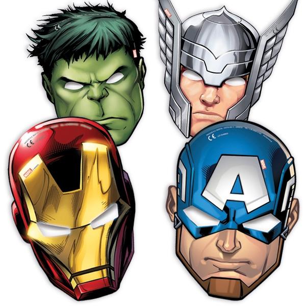 Avengers Masken, 6er Pck