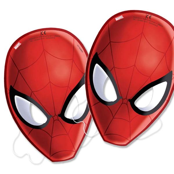 Spiderman-Masken im 6er Pack für jeden Gast der Spidermanparty, 33cm