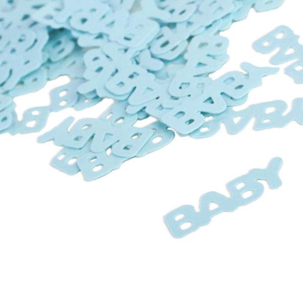 """""""Baby"""" Motivkonfetti, hellblaues Konfetti, Tischdeko Geburt Boy, 15g"""