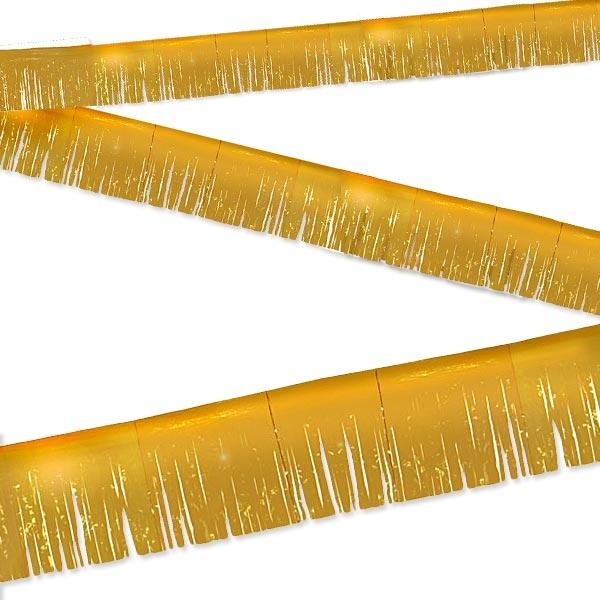Fransen Wimpelkette golden 6m, außerordentlich hübsch, für 50.Jubiläum