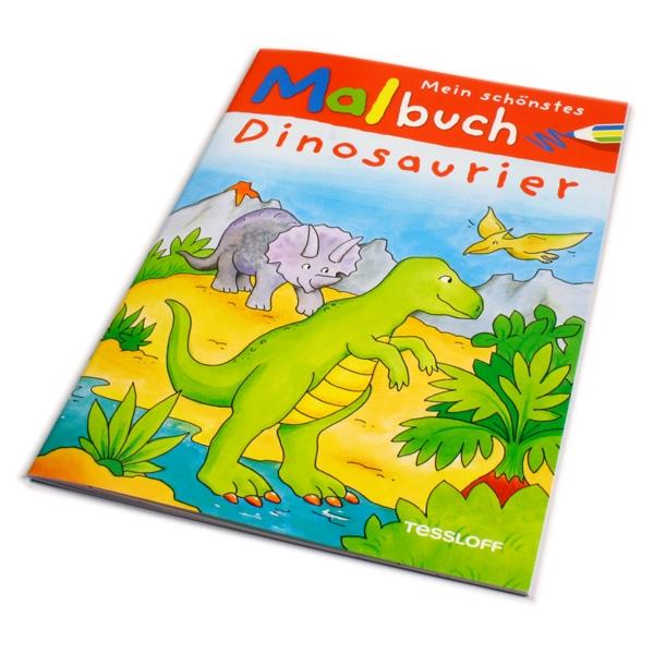 Dino-Malbuch, Dinosaurier-Ausmalbilder für kleine Kinder, 32 S.