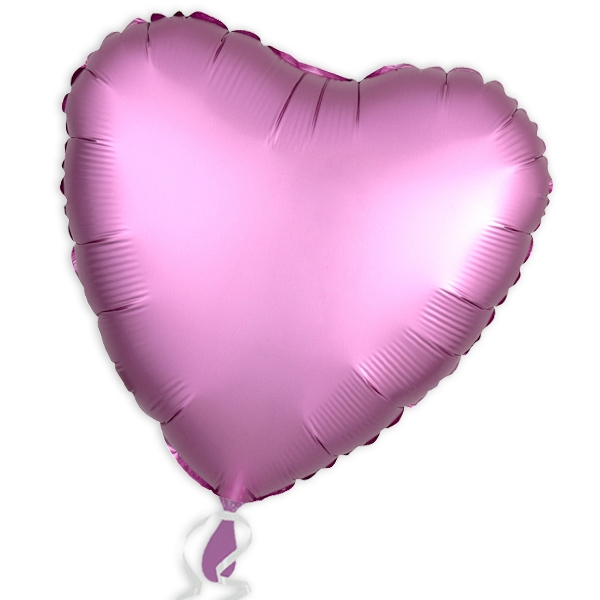 Folienballon Herz, Satin Luxe Rosa, 34 cm