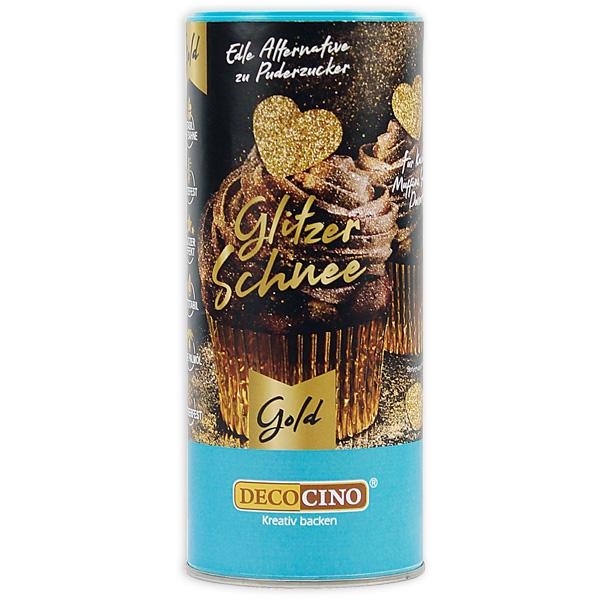 Essbarer Glitzer-Schnee in Gold, 100g