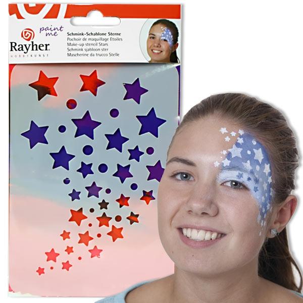 Paint Me - Schablone Sterne, Profischminken leicht gemacht, immer wiederverwendbar