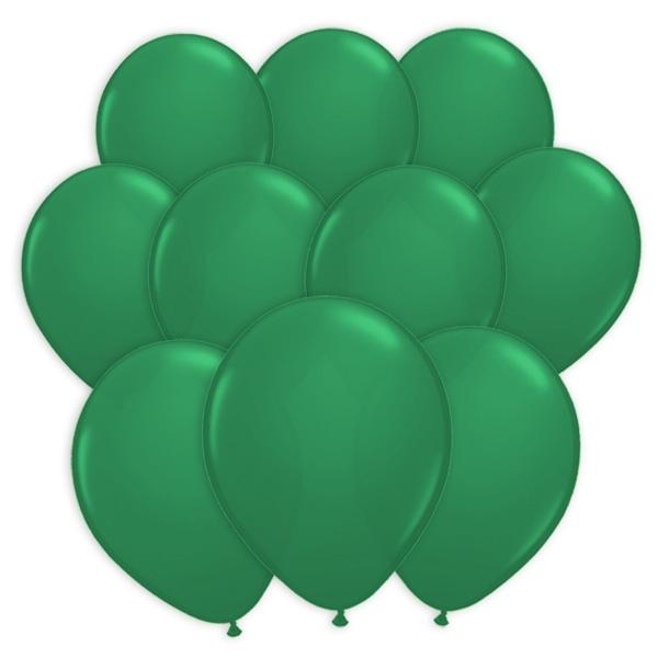 100 grüne Ballons aus Latex zum Spielen und Dekorieren