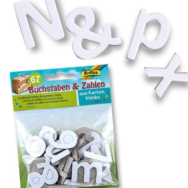 Alphabet plus Zahlen, Bastel-Stanzteile in weiß, 67-teilig, für individuelle Gestaltungen