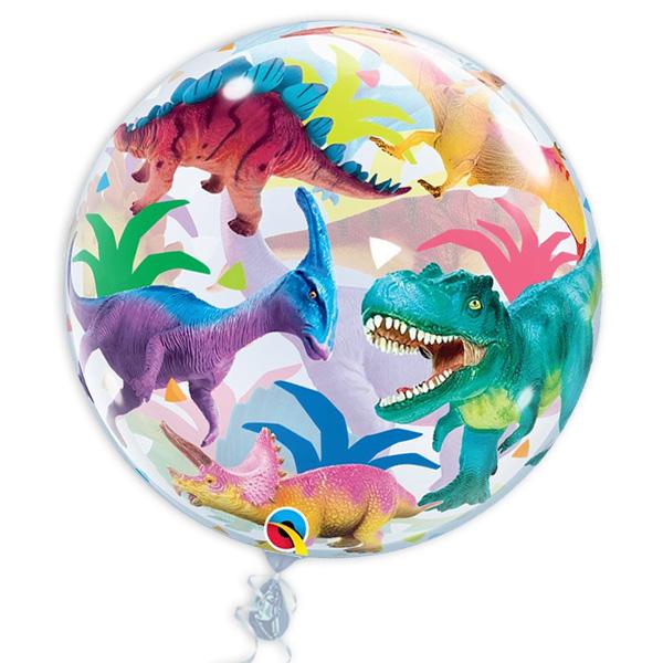 "Bubble Ballon ""Dinosaurier"", 56cm, heliumgeeignet"
