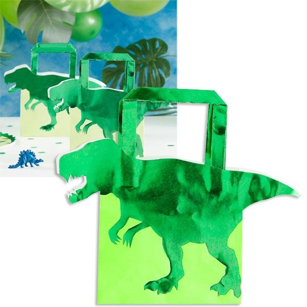 Dino Geschenktaschen 5er Pck, 19cm x 22cm