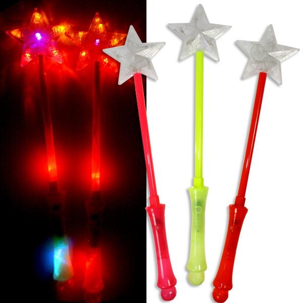 Leuchtstab - Feenstab mit Blink- u. Lauflicht, schönes Mädchengeschenk, Feenkostüm-Zubehör