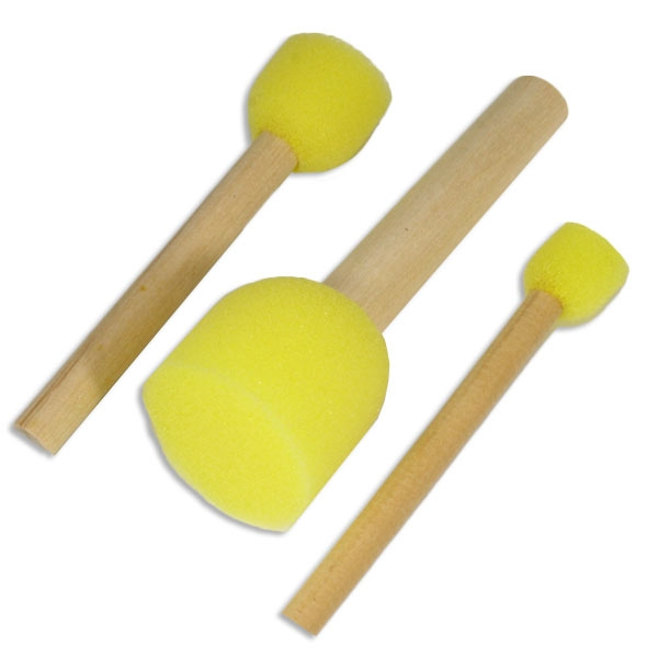 Schwammstempel in drei Größen, 3er Set, 1, 2, und 3cm für Kinderschminke