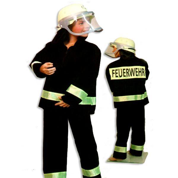 Feuerwehrhose und Jacke Gr.140 für Feuerwehrmann-Faschingskostüm