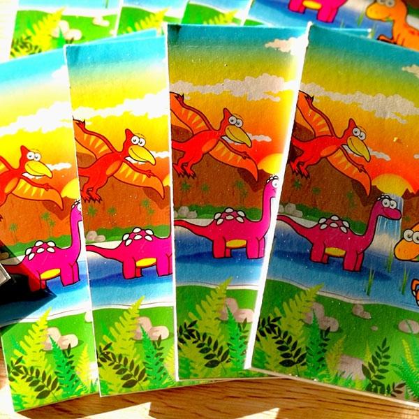 Dinosaurier Notizblock, Mitgebsel für Dinoparty Kinder, 1 Stück, 20 Seiten