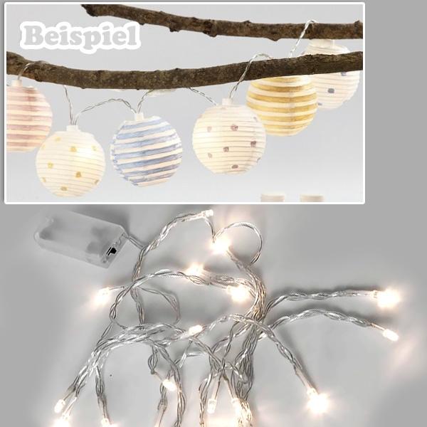LED Lichterkette, 3,15m weihnachtl. Beleuchtung ohne Batterien