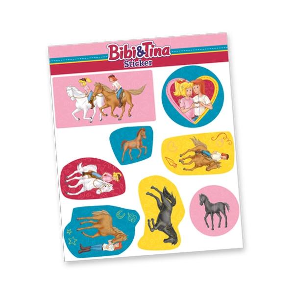 """Stickerbogen """"Bibi & Tina"""" mit 8 Stickern"""