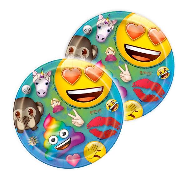 Emoji Rainbow Fun Kuchenteller, 8 Stk, 17,5cm