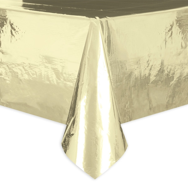 Tischdecke, metallic gold, aus Folie, wasserabweisend, 1 Stück