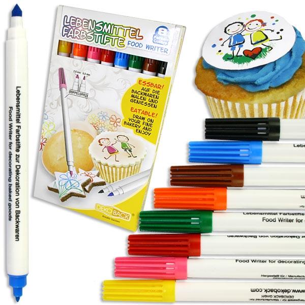 Lebensmittel Farbstifte, 8er Pack, essbare Farbe, zur Verzierung von Gebäck
