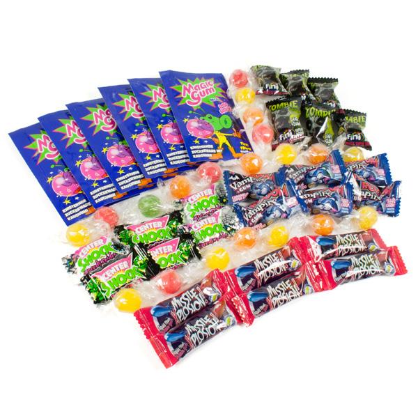 Süßigkeiten Gruselset mit färbenden Vampir/Zombie-Bonbons etc.
